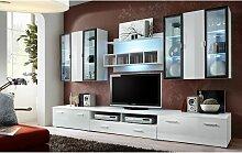 Ensemble meuble TV mural - Quadro - L 120 cm - 5
