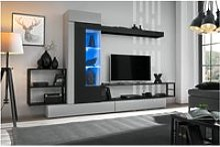 Ensemble meuble tv mural rebel - l 300 x p 35 x