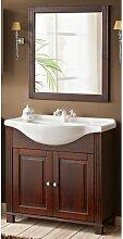 Ensemble meuble vasque + miroir - 65 cm - Retro -
