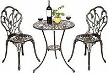 Ensemble meubles de jardin avec 1 table et 2