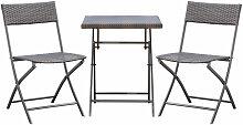 Ensemble meubles de jardin design table carré et