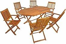Ensemble Meubles de jardin en bois Table en bois