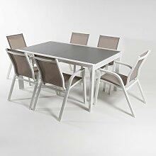 Ensemble meubles jardin | Table extensible 160/210