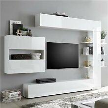 Ensemble meubles tv laque blanc SOPRANO-L 257 x P