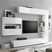 Ensemble meubles tv laque blanc SOPRANO