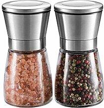 Ensemble moulin à sel et à poivre, moulin à sel