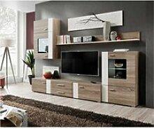 Ensemble mural - aleppo - 1 meuble tv - 1 armoire