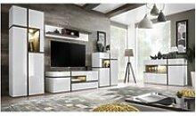 Ensemble mural meuble tv - cross - 4 éléments -