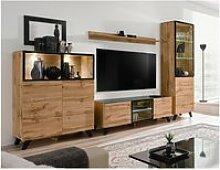 Ensemble mural meuble tv - thin - 4 éléments -