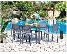 Ensemble repas de jardin - table 160 cm plateau