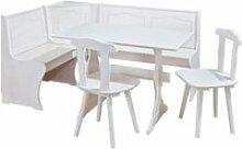 Ensemble repas table-banc d'angle-2 chaises