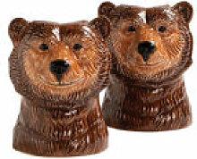 Ensemble salière et poivrière Grizzly bear /