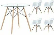 Ensemble salle à manger moderne scandinave -