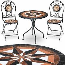 Ensemble Salon de jardin - Table 2 chaises