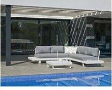 Ensemble salon sofa de jardin anastacia 2+2 en