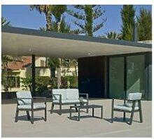 Ensemble salon sofa de jardin awena 7 en aluminium
