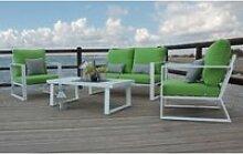 Ensemble salon sofa de jardin ayana 7 en aluminium