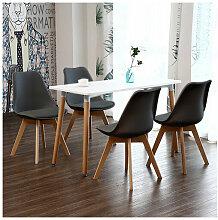 Ensemble Table à Manger Blanche + 4 Chaises