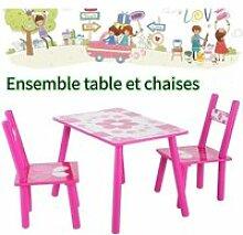 Ensemble Table avec 2 Chaises pour Enfants Table