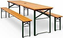 Ensemble table bancs bois pliant meuble de jardin