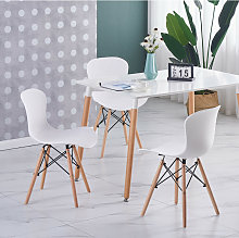 Ensemble Table Blanche + 4 Chaises Blanches -