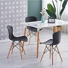 Ensemble Table Blanche + 4 Chaises Noires - Style
