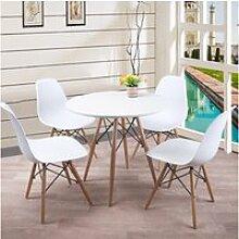 Ensemble table blanche et 4 chaises scandinave