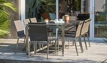 Ensemble table céramique et 8 chaises - Torino