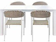 Ensemble table & chaises de jardin aluminium/