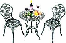 Ensemble Table et 2 Chaises pour Jardin en Fonte