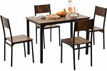 Ensemble table et 4 chaises de salle à manger,
