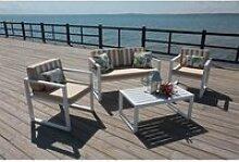 Ensemble table et chaises de jardin aluminium
