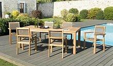 Ensemble table et chaises de jardin pour 6