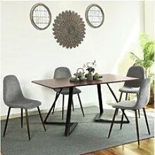 Ensemble table industriel l158cm et 4 chaises de