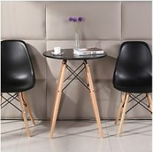 Ensemble table noire et 4 chaises scandinave