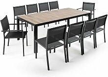 Ensemble table rectangulaire (206 x 100 x 74,5 cm)