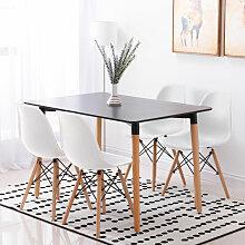 Ensemble Table Salle à Manger Noir + 4 Chaises