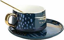Ensemble tasse a cafe et soucoupe, service a the