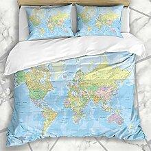 Ensembles de housse de couette Afrique Blue Globe