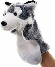 ENticerowts Marionnette à main avec loup mignon,
