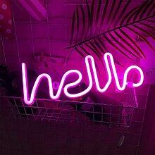 ENUOLI Hello Neon Light Sign LED Neon Word Sign