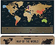 envami Carte du Monde a gratter - 68 X 43 CM -