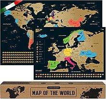 envami Carte du Monde a gratter - Italien