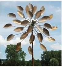 Envoûtante eolienne sur tige moulin à vent