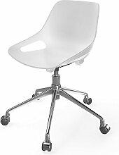 EOL | Chaise à roulettes | Blanc - Blanc