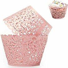 EOPER 60 Pièces sans Fond Caissette Cupcake