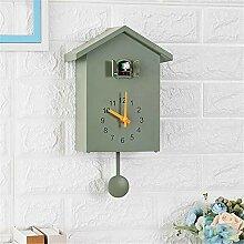 ERGGQAQ Horloge Murale de Birdhouse Cuckoo