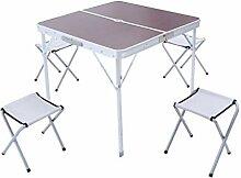 ERSD Table pliante extérieure Table pliante en