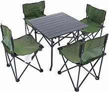 ERSD Table Pliante Portable Cinq pièces en