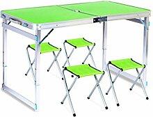 ERSD Table Pliante portative et 4 chaises Table de